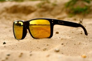 Holbrook Polished Black Lens 24K