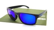 OAKLEY Holbrook Matte Black Blue lens Ice Polarized