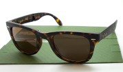 RayBan Folding Polished Tortoise Lens Brown