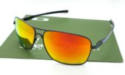OAKLEY Plaintiff Squared Black Blue Lens Fire Polarized