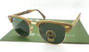 Rayban Club Master Wood 3016M Brown G15