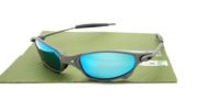 Juliet Xtreme Dark Grey Lens Light Blue