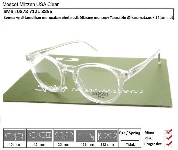 Moscot Miltzen USA Clear