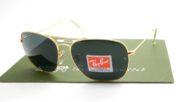 RayBan Caravan 3136 Gold Lens Crystal Green