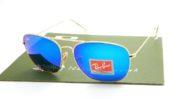 RayBan Caravan 3136 Gold Lens Flash Tosca Blue