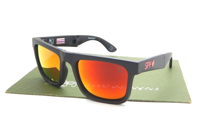 SPY Fold Matte Black Lens Fire