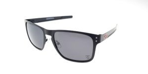 Holbrook Metal Black Logo Red Lens Black Polarized