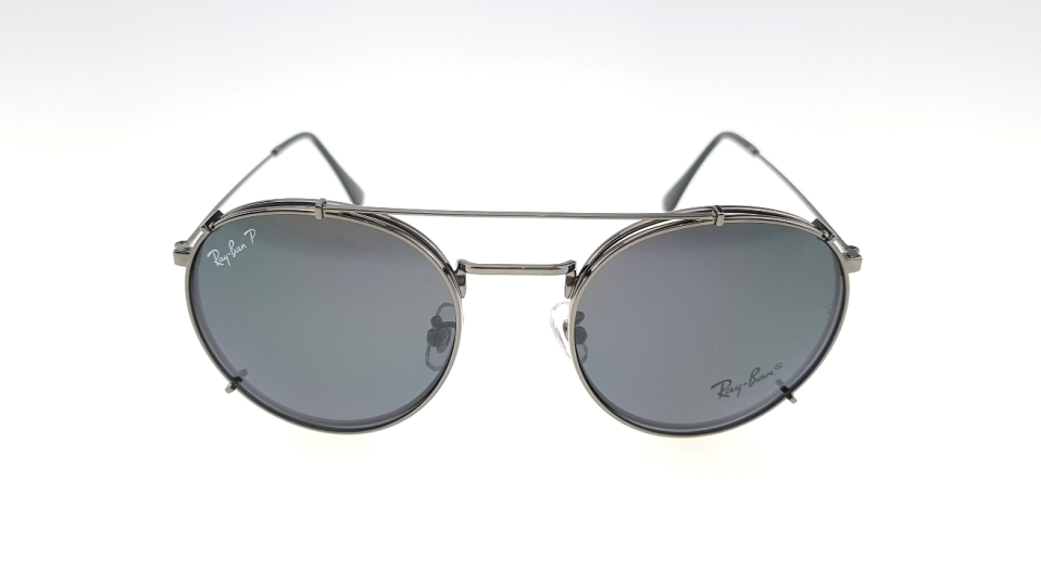 43f5ed10dc ... australia rayban club round fleck clip on gun black polarized2 527c8  fd58b