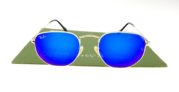 Ray Ban 3548 Hexagonal Gold Lens Blue
