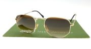 Ray Ban 3548 Hexagonal Gold Lens Brown Gradient