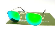 Ray Ban 3548 Hexagonal Gold Lens Green