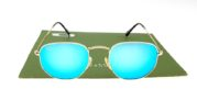 Ray Ban 3548 Hexagonal Gold Lens Light Blue