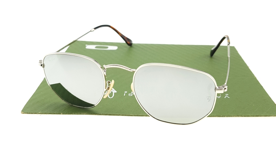 Ray Ban 3548 Hexagonal Silver Lens Mirror