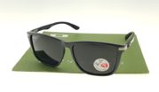 Ray Ban 4129 Highstreet Carbon Matte Black Lens Black Polarized