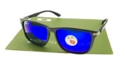 Ray Ban 4129 Highstreet Carbon Matte Black Lens Blue Polarized