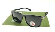 Ray Ban 4129 Highstreet Carbon Shiny Black Lens Black Polarized
