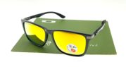 Ray Ban 4129 Highstreet Carbon Shiny Black Lens Gold Polarized