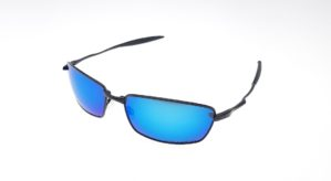 Squared Whisker Black Lens Blue