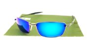 Oakley Square Whisker Gun Metal Lens Blue Polarized