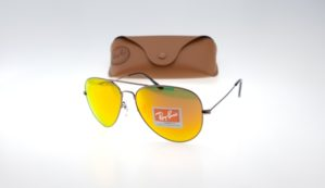 RAYBAN Aviator 3026 Brown Lens Orange Fire