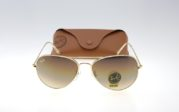 RAYBAN Aviator 3026 Gold Lens Brown Gradient