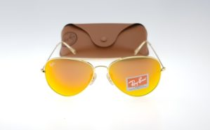 RAYBAN Aviator 3026 Gold Lens Orange Fire