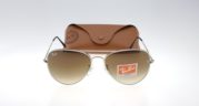 RAYBAN Aviator 3026 Silver Lens Brown Gradient