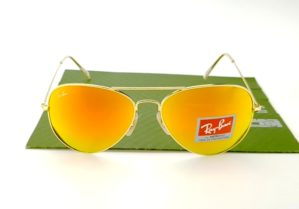 RAYBAN Aviator 3026 Gold Lens Fire CRB