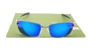 Squared Whisker Gun Lens Blue
