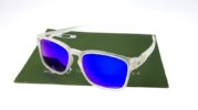 Oakley Latch Square Matte Clear Lens Blue