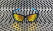 Sunglass Oakley Scalpel Black Blue Fire